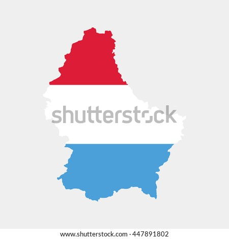 Territory and flag of Luxemburg - stock vector