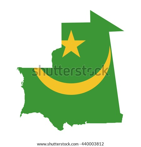 Territory and flag of Mauritania