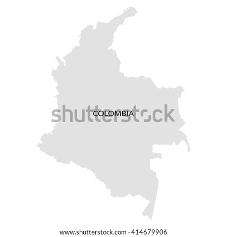 Territory of Colombia - stock vector