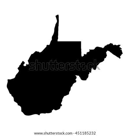 Territory of West Virginia - stock vector