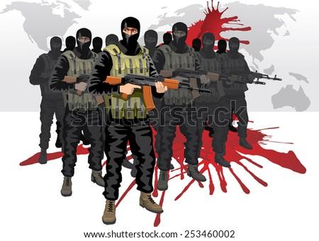 terrorism - stock vector