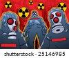 terrorist chemical attack - stock vector