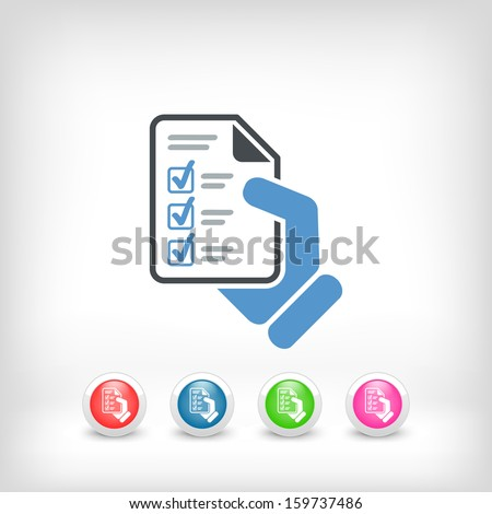 Test document - stock vector
