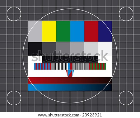Test screen - stock vector