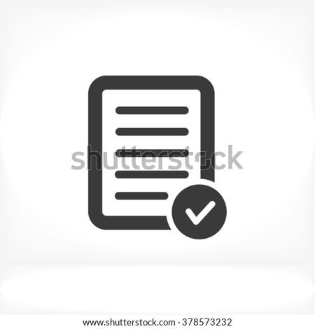 Test tick Icon - stock vector