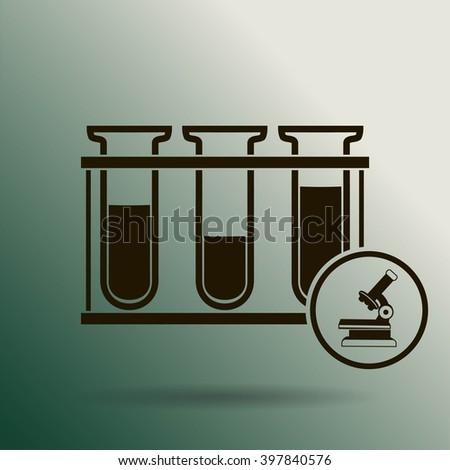 Test tube icon - stock vector