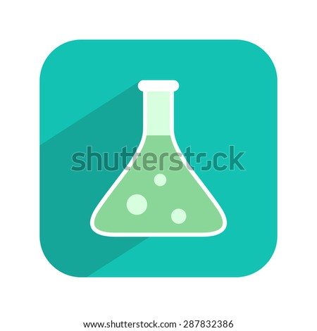 Test tube icon. Ð¡hemical, biological, science flask. Laboratory equipment. Vector illustration. - stock vector