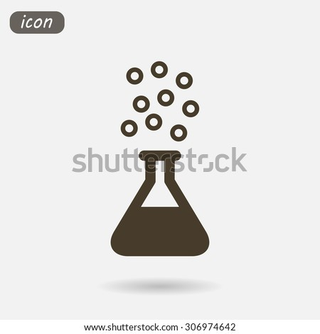Test tube .VECTOR ICON 10 eps - stock vector