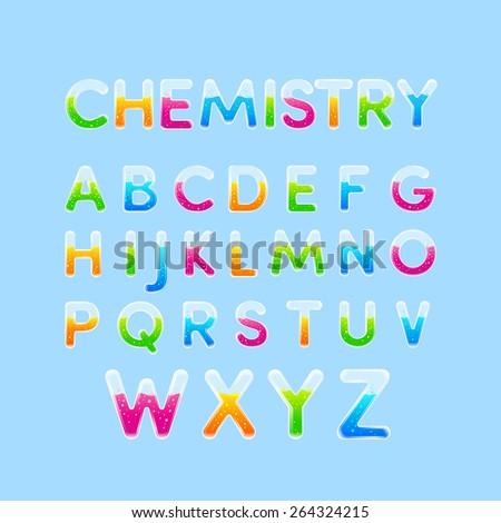 Test tubes chemistry alphabet colorful font stock vector royalty test tubes chemistry alphabet colorful font stylet of capital letter a b altavistaventures Gallery
