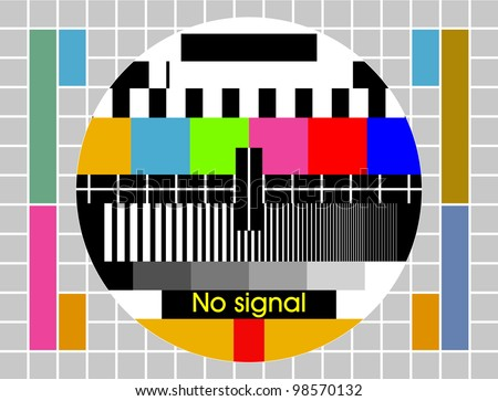 Test tv screen background - stock vector