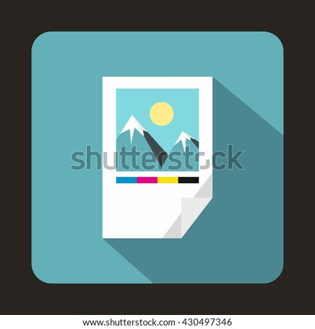 Tested ink paper with printer marks icon. Tested ink paper with printer marks icon art. Tested ink paper with printer marks icon web. Tested ink paper with printer marks icon new - stock vector