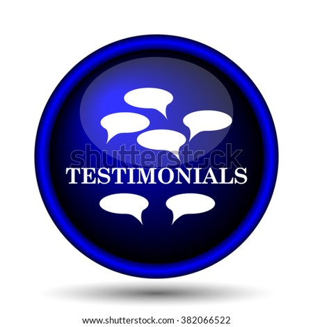 Testimonials icon. Internet button on white background. EPS10 vector