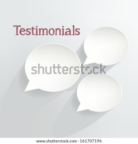 Testimonials Speech Bubbles - stock vector