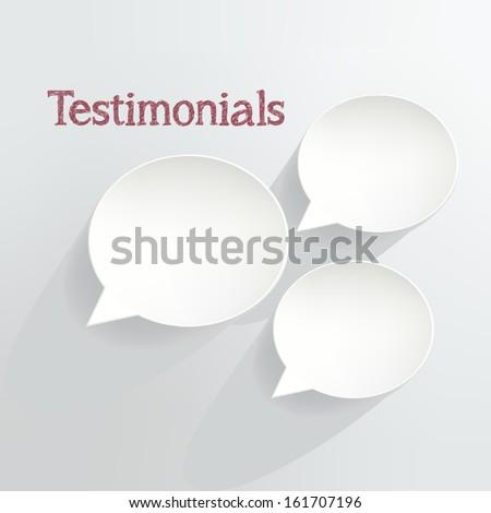 Testimonials Speech Bubbles - stock vector