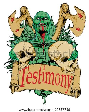 Testimony - stock vector