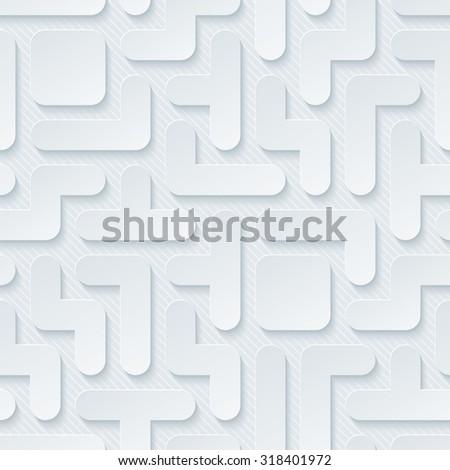 Tetris wallpaper. 3d seamless background. Vector EPS10. - stock vector