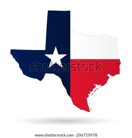 texas american state flag silhouette stock vector 206710978