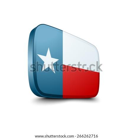 Texas  button - stock vector
