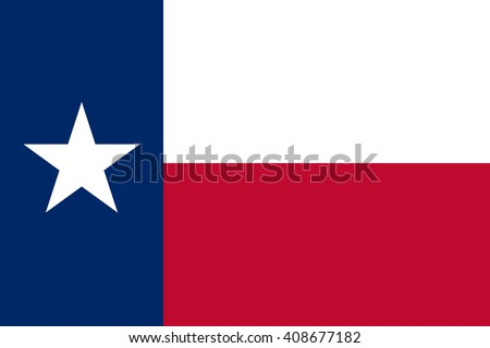 Texas flag, official colors and proportion correctly. National Texas flag. Texas flag vector. Texas flag correct. Texas flag drawing. Texas flag JPG. Texas flag JPEG. Texas flag EPS. - stock vector