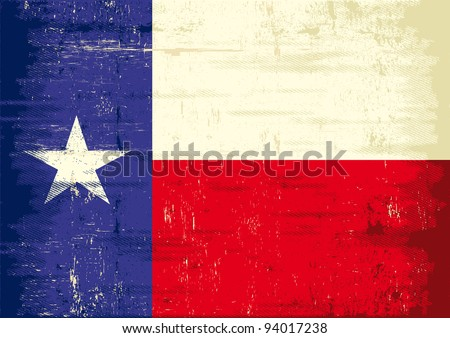 Texas grunge flag. The flag of Texas with a texture for you. Enjoy ! - stock vector