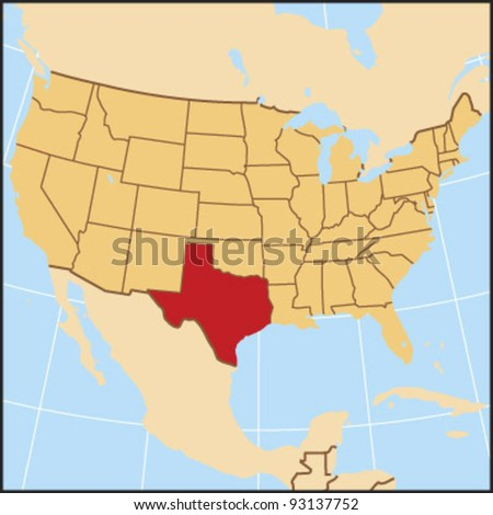 Texas Locate Map