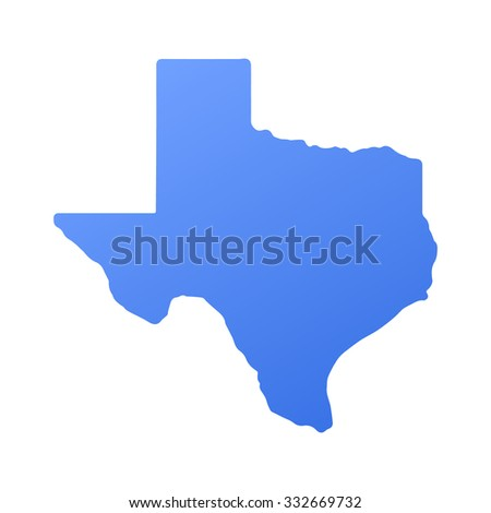 Texas state border,map - stock vector
