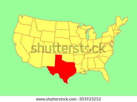 Louisiana State Usa Vector Map Isolated Stock Vector - Texas state usa map
