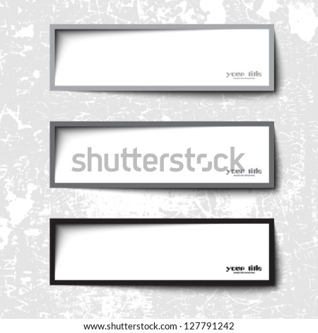 text box  design - stock vector