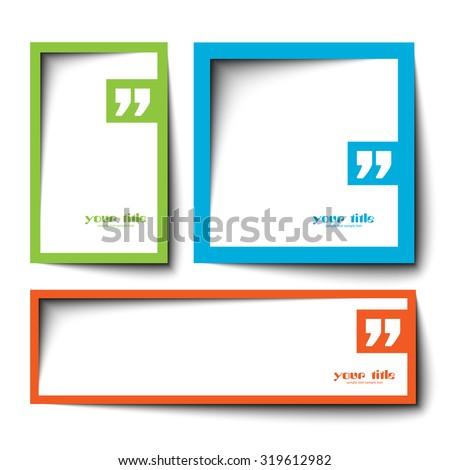 text box vector design - stock vector