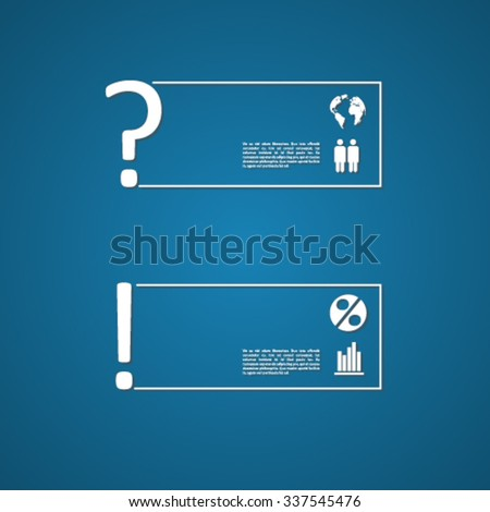 Text box vector design with signs and symbols - stock vector