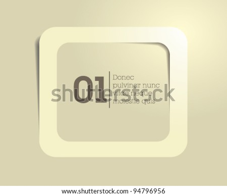 text box vector / frame vector / clean modern design - stock vector