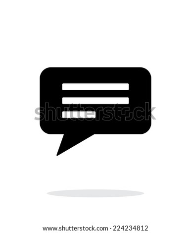 Text bubble simple icon on white background. Vector illustration. - stock vector