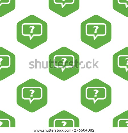Text Bubble Question Mark Hexagon Repeated Stock Vector 276604082