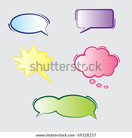 Text Bubbles - stock vector