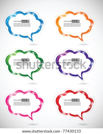 Text Cloud Bubbles. EPS 10 Vector. - stock vector