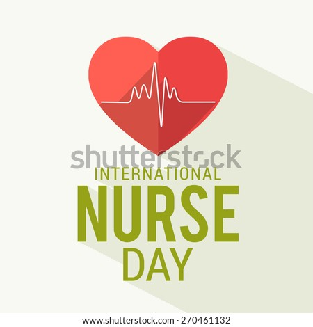 Text design for International nurses day illustration. - stock vector