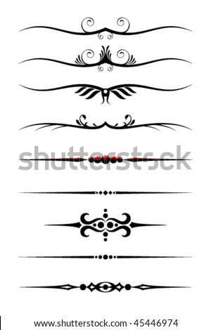 Text Dividers Set Vector. Also available in raster. - stock vector