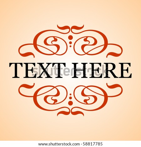 Text frame - stock vector