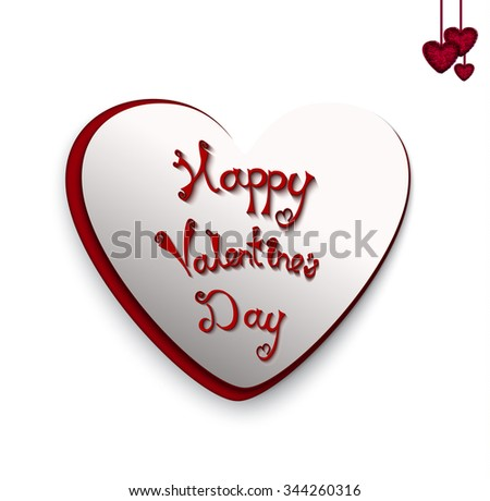Text  greetings on Valentine's Day - stock vector