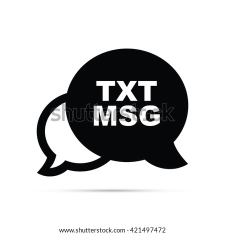Text Messaging Icon - stock vector