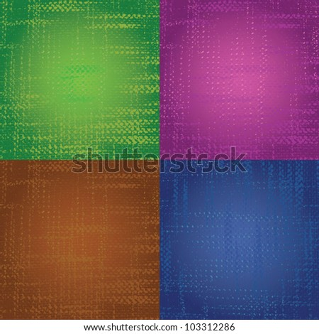 textile background, green, violet, brown, blue - stock vector