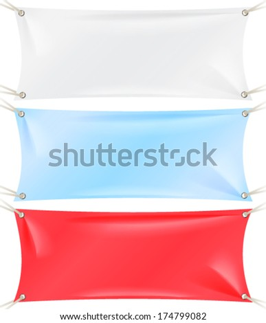 Textile Banner Set - stock vector