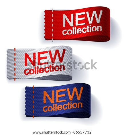 Textile labels. Vector. - stock vector