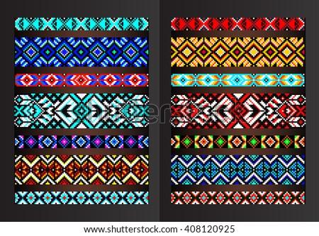 Textile Ribbons Braids Boho Style Scandinavian Stock