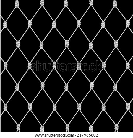 texture a background from a rope network - stock vector