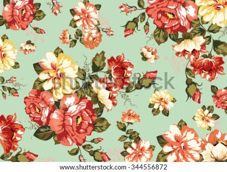 texture, flowers, field - stock vector