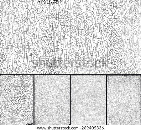 Texture for Grungy Effect . Crackling texture - stock vector