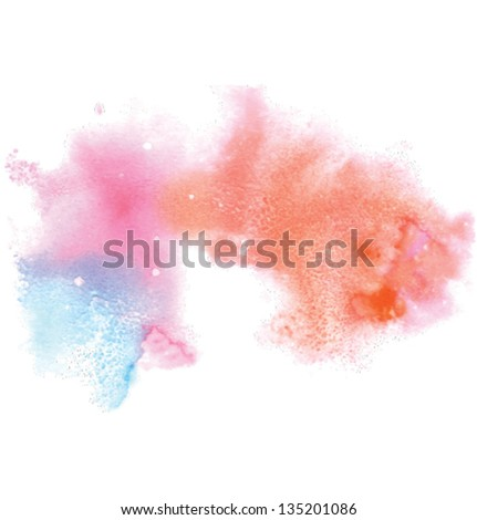 texture grained background been made  with watercolor streaks and  salt grains - stock vector