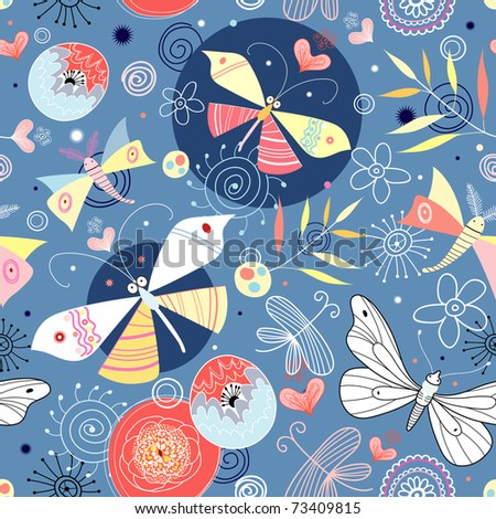 texture of a butterfly - stock vector
