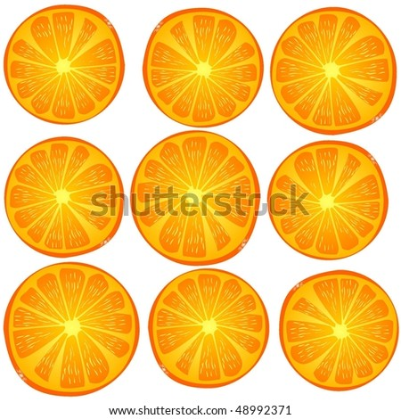 texture of an orange - stock vector